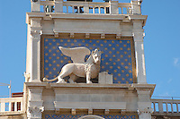 The Winged Lion on The Bell Tower - Saint Mark's Square  - Venice Italy