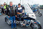 Attending the Kerry Hospice Honda 50 run in Blennerville on Sunday, l to r: Martin O'Flaherty (Moyvane) and John Griffin (Ballybunion)