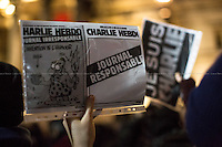 """07.01.2015 - """"Je Suis Charlie"""" London's Vigil for the Victims of the Attack at Charlie Hebdo"""
