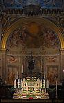 High Altar Peruzzi, Ciborium Vecchietta, Angels Martini and di Stefano, Apse Frescoes Beccafumi, Cathedral of Siena, Santa Maria Assunta, Siena, Italy