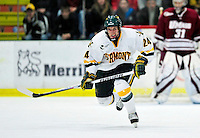 24 November 2009: University of Vermont Catamount forward Tobias Nilsson-Roos, a Freshman from Malmo, Sweden, in action against the University of Massachusetts Minutemen at Gutterson Fieldhouse in Burlington, Vermont. The Minutemen defeated the Catamounts 6-2. Mandatory Credit: Ed Wolfstein Photo