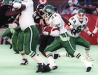 Lucius Floyd Saskatchewan Roughriders. Photo F. Scott Grant