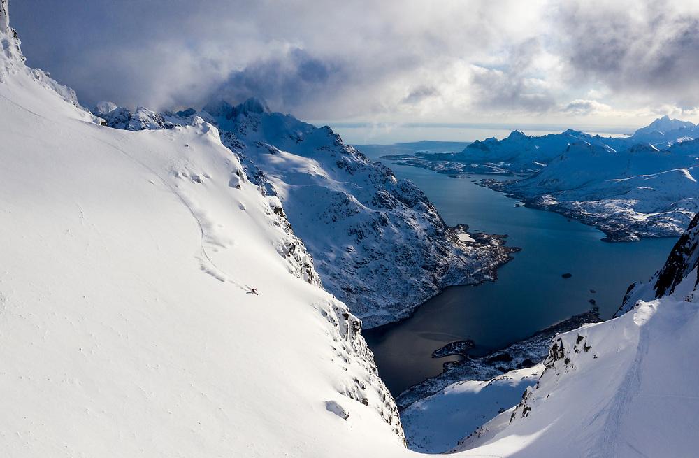 Sage Cattabriga-Alosa Skiing Lofoten Islands, Norway