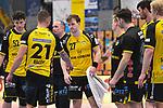 Die Coburger nach der Niederlage beim Spiel in der Handball Bundesliga, Die Eulen Ludwigshafen - HSC 2000 Coburg.<br /> <br /> Foto © PIX-Sportfotos *** Foto ist honorarpflichtig! *** Auf Anfrage in hoeherer Qualitaet/Aufloesung. Belegexemplar erbeten. Veroeffentlichung ausschliesslich fuer journalistisch-publizistische Zwecke. For editorial use only.