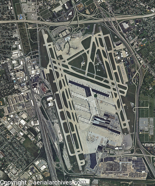 aerial photo map  Louisville International Airport (SDF), Louisville, Kentucky