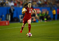 Frisco, TX - April 6, 2017: The U.S. Women's national team go up 2-0 over Russia in an international friendly match at Toyota stadium.