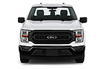 Car photography straight front view of a 2021 Ford F-150 XL 4 Door Pick-up Front View