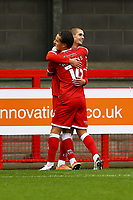 Max Watters (R) of Crawley Town scores the third goal for his team and celebrates with Tom Nichols of Crawley Town during Crawley Town vs Morecambe, Sky Bet EFL League 2 Football at Broadfield Stadium on 17th October 2020