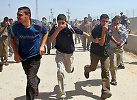 """Hamas demonstration in the Karni crossing east of Gaza City that injured 10 people and killing people by the Israeli army on May 22, 2008""""photo by Fady Adwan"""""""