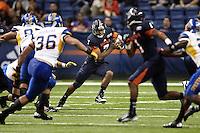 SAN ANTONIO, TX - OCTOBER 20, 2012: The San Jose State Spartans versus The University of Texas at San Antonio Roadrunners Football at the Alamodome. (Photo by Jeff Huehn)