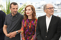 MATHIEU KASSOVITZ, ISABELLE HUPPERT AND JEAN-LOUIS TRINTIGNANT - PHOTOCALL OF THE FILM 'HAPPY END' AT THE 70TH FESTIVAL OF CANNES 2017