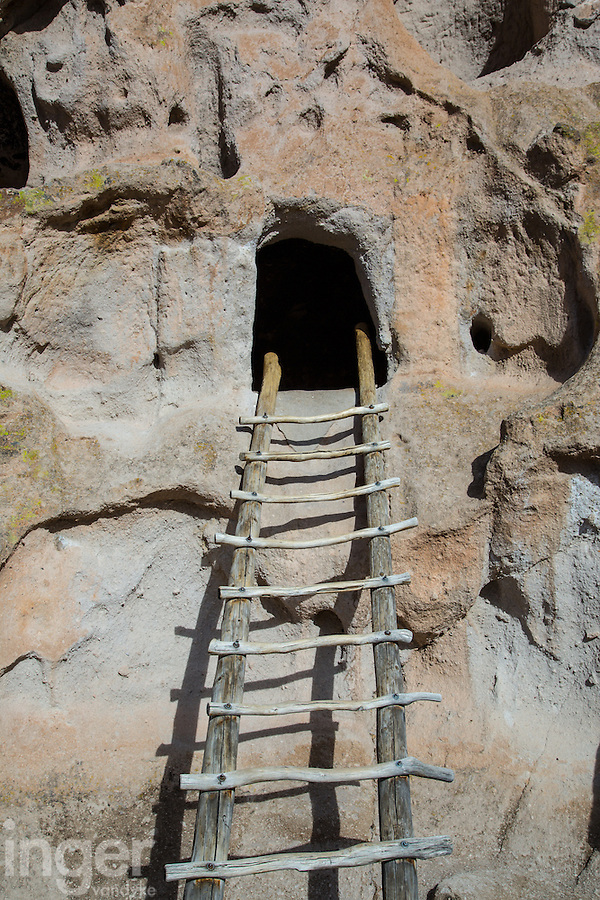 Wooden Ladder in Bandelier National Monument, New Mexico