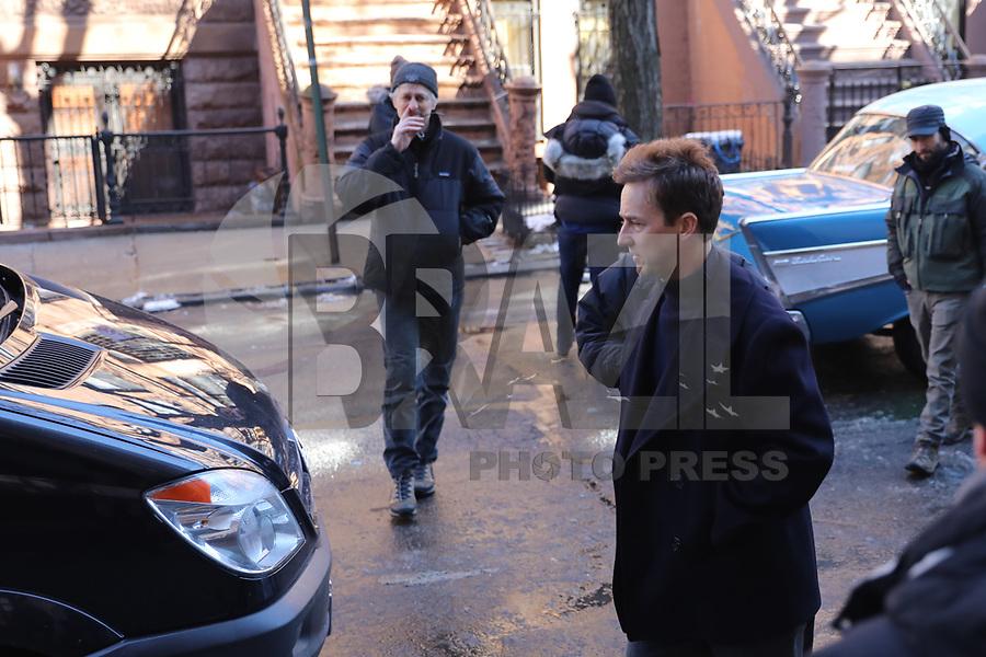 NEW YORK, EUA, 18.02.2018 - CELEBRIDADES-EUA - O ator e diretor Edward Norton visto é durante dia de gravação do filme Motherless Brooklyn em Manhattan, na cidade de Nova York, nos Estados Unidos, neste domingo, 18. (Foto: Vanessa Carvalho/Brazil Photo Press)