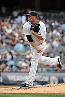 New York Yankees pitcher Freddy Garcia #36 during a game against the Baltimore Orioles at Yankee Stadium on September 5, 2011 in Bronx, NY.  Yankees defeated Orioles 11-10.  Tomasso DeRosa/Four Seam Images