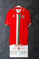 Garry Speeds' 1996/98 Wales home shirt is displayed at The Art of the Wales Shirt Exhibition at St Fagans National Museum of History in Cardiff, Wales, UK. Monday 11 November 2019
