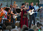"""Jeans 'N Classics perform during the Pops on the River """"A night at Woodstock"""" concert at Wingfield Park in downtown Reno on Saturday, July 13, 2019."""