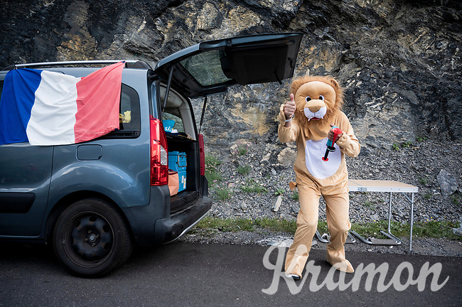 fan up the Col du Galibier<br /> <br /> Stage 18: Embrun to Valloire(208km)<br /> 106th Tour de France 2019 (2.UWT)<br /> <br /> ©kramon