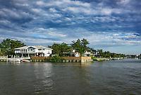 House sited on North Bay, Virginia Beach, Virginia, USA
