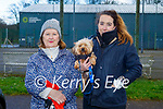Enjoying a stroll in the Listowel town park on Saturday, l to r: Elenor and Elaine Enright with Millie the dog.
