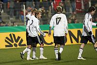 Torjubel Deutschland<br /> Deutschland vs. Finnland, U19-Junioren<br /> *** Local Caption *** Foto ist honorarpflichtig! zzgl. gesetzl. MwSt. Auf Anfrage in hoeherer Qualitaet/Aufloesung. Belegexemplar an: Marc Schueler, Am Ziegelfalltor 4, 64625 Bensheim, Tel. +49 (0) 151 11 65 49 88, www.gameday-mediaservices.de. Email: marc.schueler@gameday-mediaservices.de, Bankverbindung: Volksbank Bergstrasse, Kto.: 151297, BLZ: 50960101