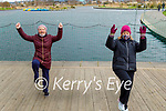 Maria Foley (left) and Aileen Healy having fun and exercise practicing the Jerusulema dance in the Tralee Bay Wetlands on Friday.