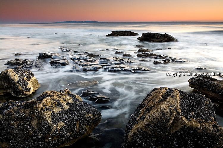 Gaviota Coast Sunset, Tajiguas Beach,