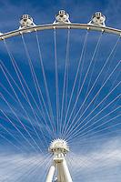 Las Vegas, Nevada.  Three Gondolas on the High Roller, World's Tallest Observation Wheel as of 2015.