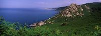 Europe/France/Normandie/Basse-Normandie/50/Manche/Presqu'île de la Hague/Gréville-Hague: au hameau de Gruchy ou naquit Millet, le panorama et le rocher de  Castel Vendon que le peintre représenta.