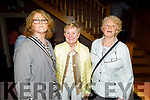 Margaret Molyneaux, Bibi Shanahan and Mary Falvey from Abbeydorney/Lixnaw enjoying the Johnny McEvoy concert in O'Riadas on Friday night.