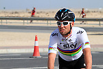 Team Sky Procycling and World Champion Mark Cavendish (GBR)  before the 2nd Stage of the 2012 Tour of Qatar a team time trial at Lusail Circuit, Doha, Qatar, 6th February 2012 (Photo Eoin Clarke/Newsfile)
