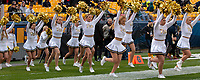 Members of the Pitt dance team take the field before the game. The Pitt Panthers football team defeated the Duke Blue Devils 54-45 on November 10, 2018 at Heinz Field, Pittsburgh, Pennsylvania.