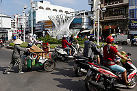 Preparation of Tet festivities 2020 in Vietnam.<br /> <br /> Tet mark the new lunar year : <br /> people buy flowers and small trees, dress up in traditional Ao Dai dress for photos and student get gift on last day of school before the hollidays