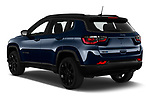 Car pictures of rear three quarter view of 2021 JEEP Compass S 5 Door SUV Angular Rear