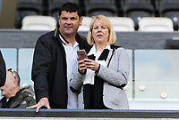 Swansea supporters during the Premier League game between Swansea City v Chelsea at the Liberty Stadium, Swansea, Wales, UK. Saturday 28 April 2018