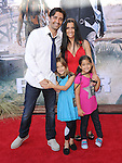Gilles Marini and family at The Disney World Premiere of The Lone Ranger held at at Disney California Adventure in Anaheim, California on June 22,2021                                                                   Copyright 2013 Hollywood Press Agency