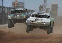 Mar. 19, 2011; Chandler, AZ, USA;  LOORRS pro two driver Jeff Geiser leads Jeremy McGrath during round one at Firebird International Raceway. Mandatory Credit: Mark J. Rebilas-US PRESSWIRE