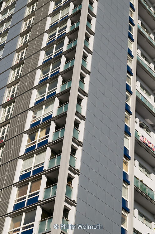 New cladding on Wilmcote House, Warwick Estate, managed by CityWest Homes for Westminster City Council