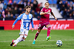 Ruben Perez of CD Leganes and Ljubomir Fejsa of Deportivo Alaves during La Liga match between CD Leganes and Deportivo Alaves at Butarque Stadium in Leganes, Spain. February 29, 2020. (ALTERPHOTOS/A. Perez Meca)