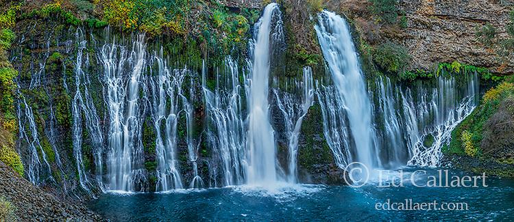 Waterfalls, Burney Falls Memorial State Park, Shasta-Trinity National Forest, Shasta County, California