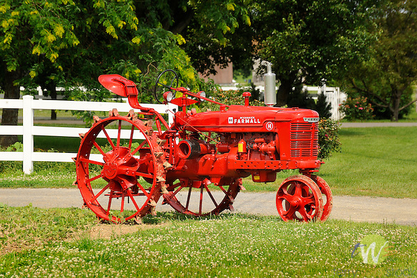 Vintage McCormick Farmall H Tractor with steel wheels. Route 44, Elimsport, PA.