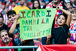 Little soccer fans show their supports to Mauro Emanuel Icardi of FC Internazionale during their International Champions Cup Europe 2018 match between Atletico de Madrid and FC Internazionale at Wanda Metropolitano on 11 August 2018, in Madrid, Spain. Photo by Diego Souto / Power Sport Images