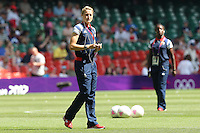 Ellen White of GB soaks up the atmosphere before the game - Great Britain Women vs New Zealand Women - Womens Olympic Football Tournament London 2012 Group E at the Millenium Stadium, Cardiff, Wales - 25/07/12 - MANDATORY CREDIT: Gavin Ellis/SHEKICKS/TGSPHOTO - Self billing applies where appropriate - 0845 094 6026 - contact@tgsphoto.co.uk - NO UNPAID USE.