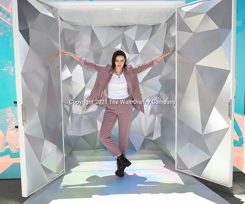 """SANTA MONICA, CA - JUNE 11: Ava Capri poses for a photo at a special photo-activation in honor of Pride Month and the Season 2 premiere of the Hulu Original Series """"Love, Victor,"""" on June 11, 2021 in Santa Monica, California. (Photo by Frank Micelotta/Hulu/PictureGroup)"""