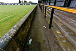 Insteps left on the terraces at Watnall Road. Hucknall Town v Heanor Town, 17th October 2020, at the Watnall Road Ground, East Midlands Counties League. Photo by Paul Thompson.