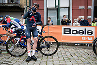 triathlete Cameron Wurf (AUS/Ineos Grenadiers) at the start in Herve<br /> <br /> 84th La Flèche Wallonne 2020 (1.UWT)<br /> 1 day race from Herve to Mur de Huy (202km/BEL)<br /> <br /> ©kramon