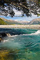 Waimakariri River near Arthur's Pass, Canterbury, New Zealand
