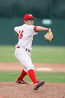 August 13th, 2007:  Justin Fiske of the Batavia Muckdogs, Short-Season Class-A affiliate of the St. Louis Cardinals at Dwyer Stadium in Batavia, NY.  Photo by:  Mike Janes/Four Seam Images