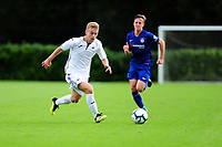 Marc Walsh of Swansea City in action during the Premier League u18 match between Swansea City AFC and Chelsea FC at Landore Training Ground, Wales, UK. Tuesday 11th September 2018