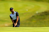 150719 | The 148th Open - Monday Practice<br /> <br /> Alexander Levy of France chips onto the 16th green during practice for the 148th Open Championship at Royal Portrush Golf Club, County Antrim, Northern Ireland. Photo by John Dickson - DICKSONDIGITAL