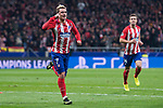 Atletico de Madrid Antoine Griezmann celebrating a goal during UEFA Champions League match between Atletico de Madrid and Roma at Wanda Metropolitano in Madrid, Spain. November 22, 2017. (ALTERPHOTOS/Borja B.Hojas)